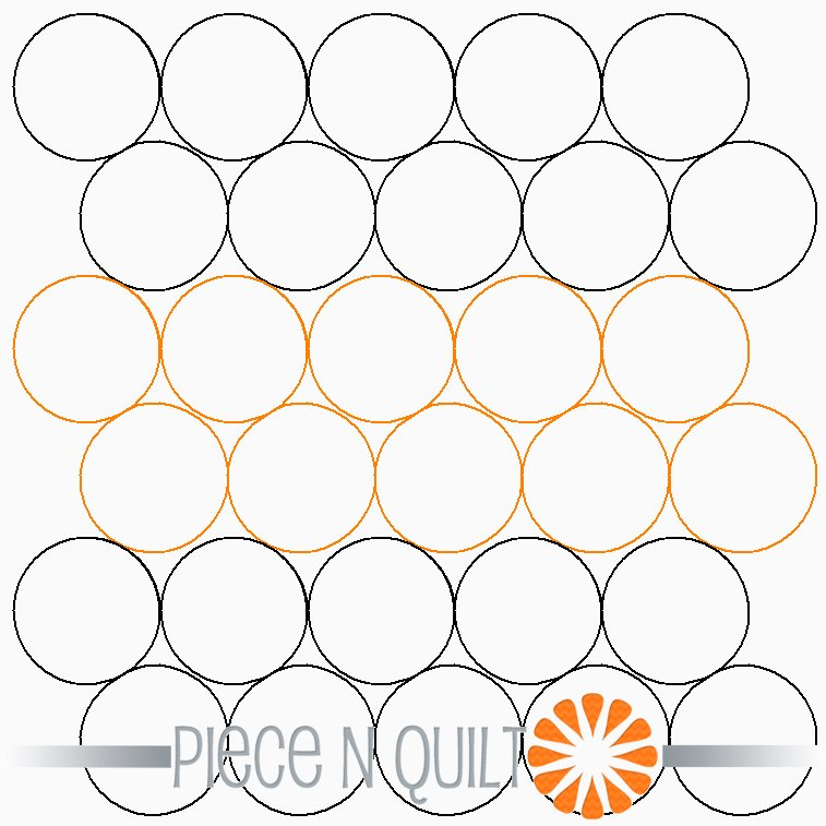 Alternating Bubbles Pantograph Pattern - Digital