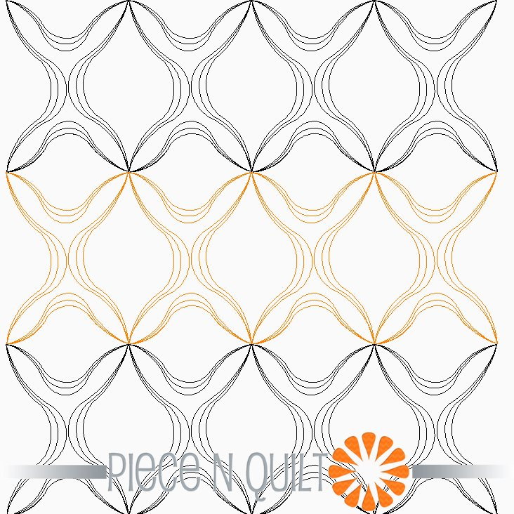 Angel Hair Pantograph Pattern - Digital