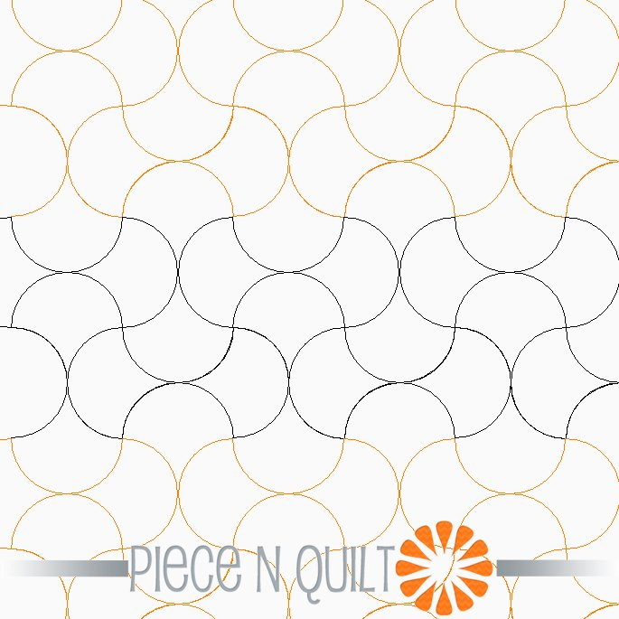 Apple Cores Pantograph Pattern - Digital