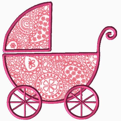 Baby Girl Buggy Applique