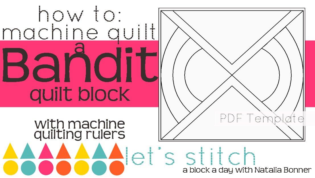 Let's Stitch - A Block a Day With Natalia Bonner - PDF - Bandit