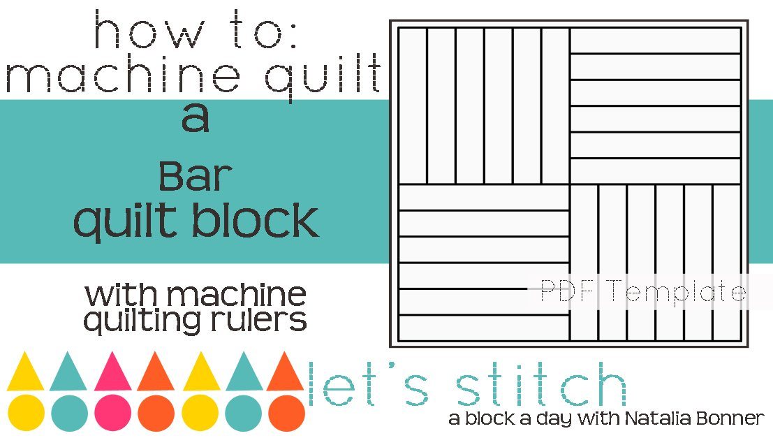 Let's Stitch - A Block a Day With Natalia Bonner - PDF - Bar
