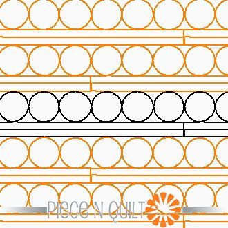 Beads & Columns Pantograph Pattern - Digital