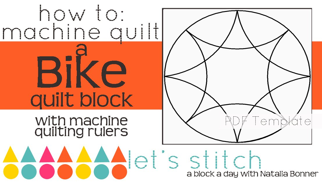 Let's Stitch - A Block a Day With Natalia Bonner - PDF - Bike