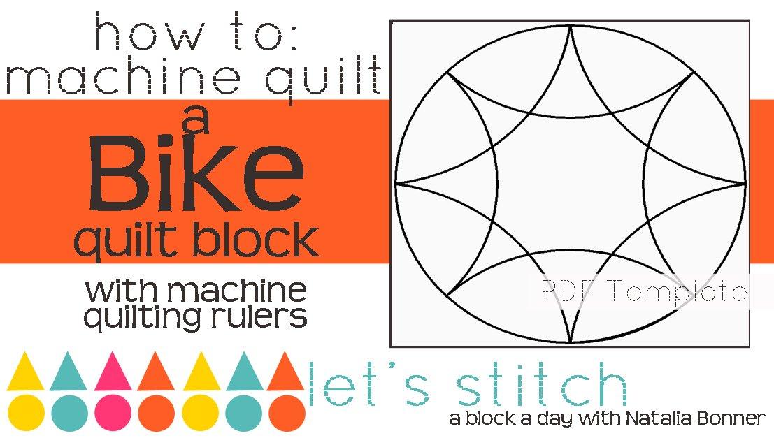 Let's Stitch - A Block a Day With Natalia Bonner - PDF - Bike