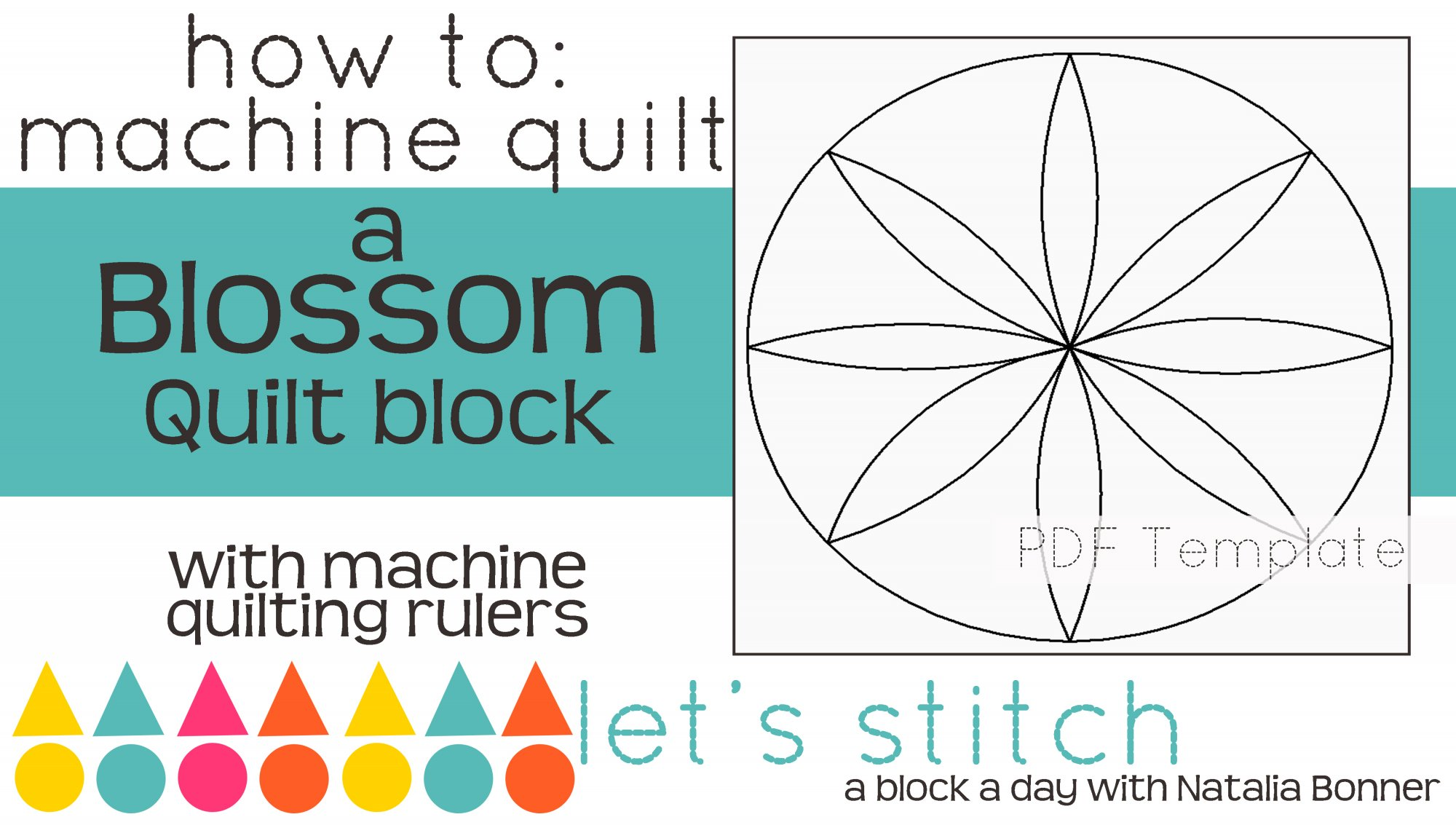 Let's Stitch - A Block a Day With Natalia Bonner - PDF - Blossom