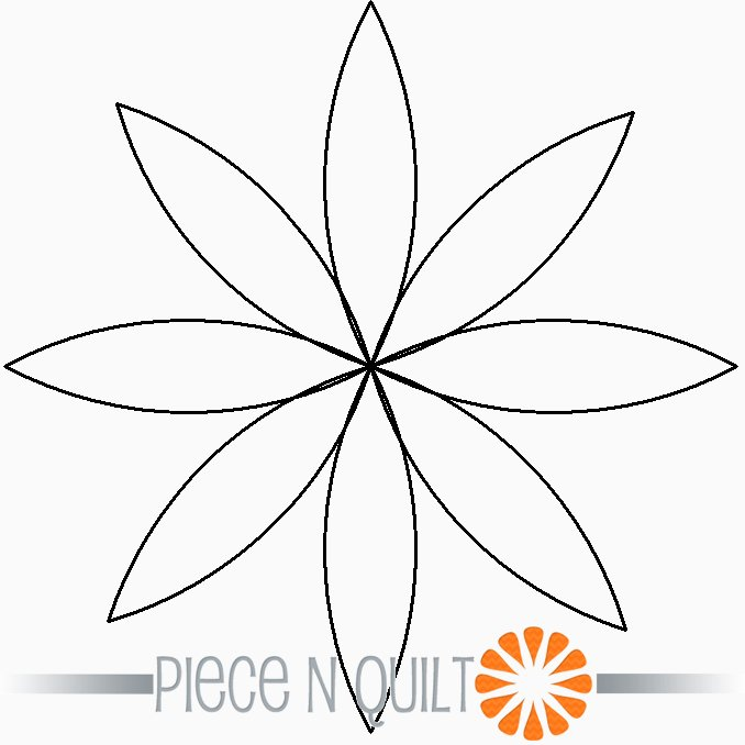 Blossom Single Block Machine Quilting Pattern - Digital