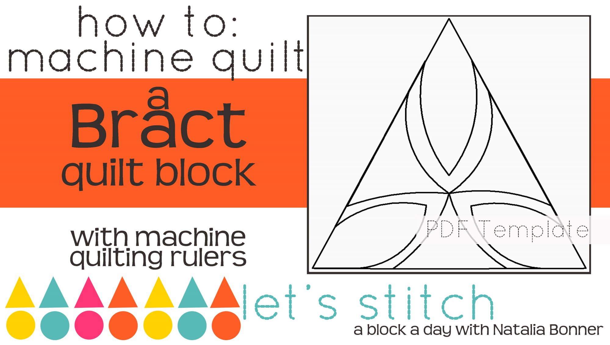 Let's Stitch - A Block a Day With Natalia Bonner - PDF - Bract