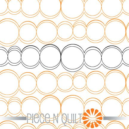 Bubbles Pantograph Pattern - Digital