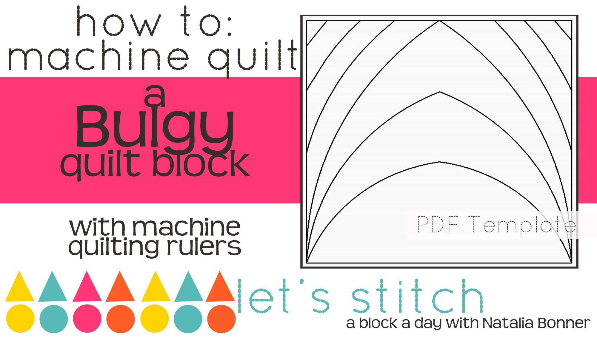 Let's Stitch - A Block a Day With Natalia Bonner - PDF - Bulgy