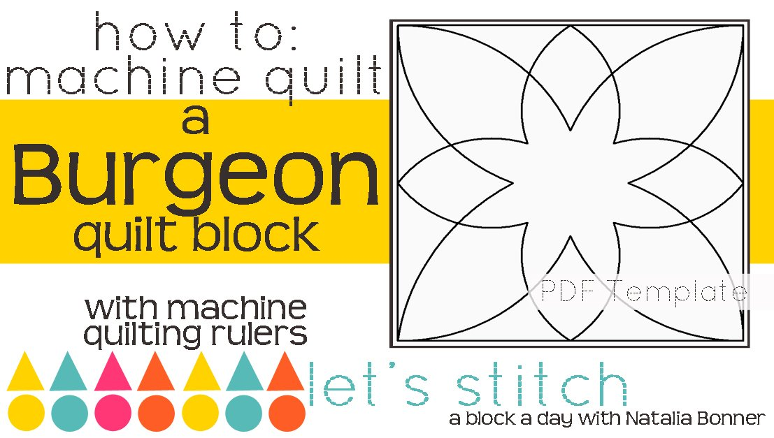 Let's Stitch - A Block a Day With Natalia Bonner - PDF - Burgeon