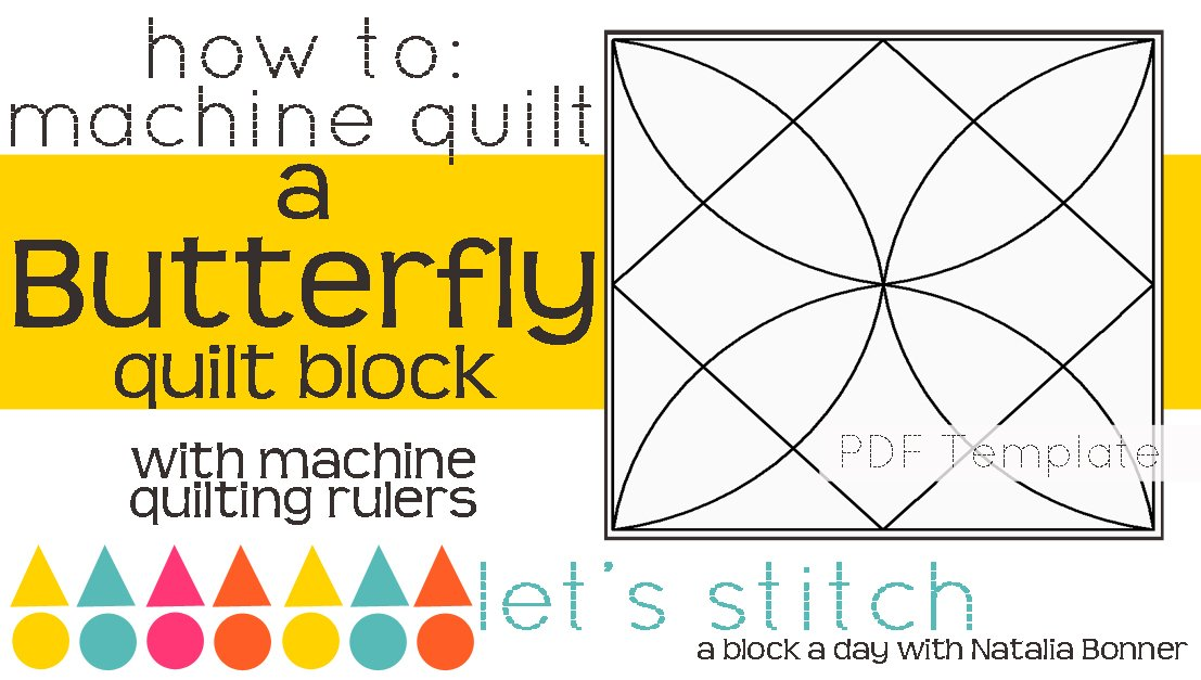 Let's Stitch - A Block a Day With Natalia Bonner - PDF - Butterfly