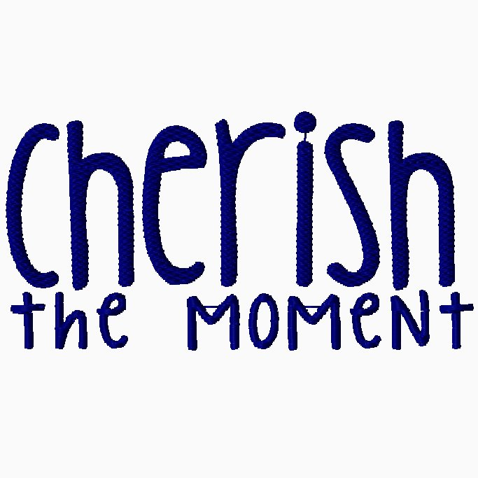 Cherish the Moment Embroidery