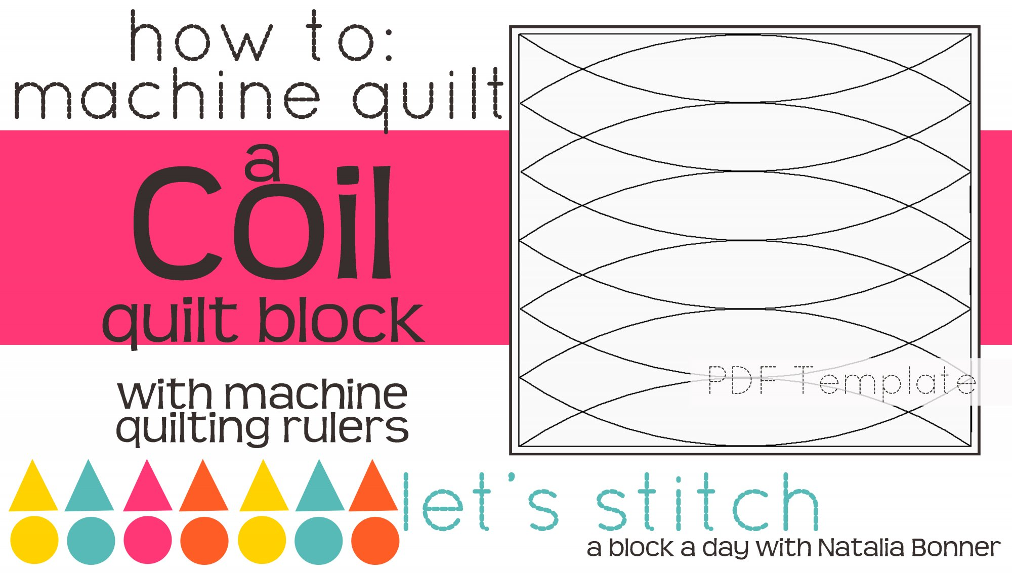 Let's Stitch - A Block a Day With Natalia Bonner - PDF - Coil