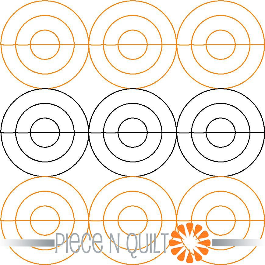 Concentric Circles Pantograph Pattern - Digital