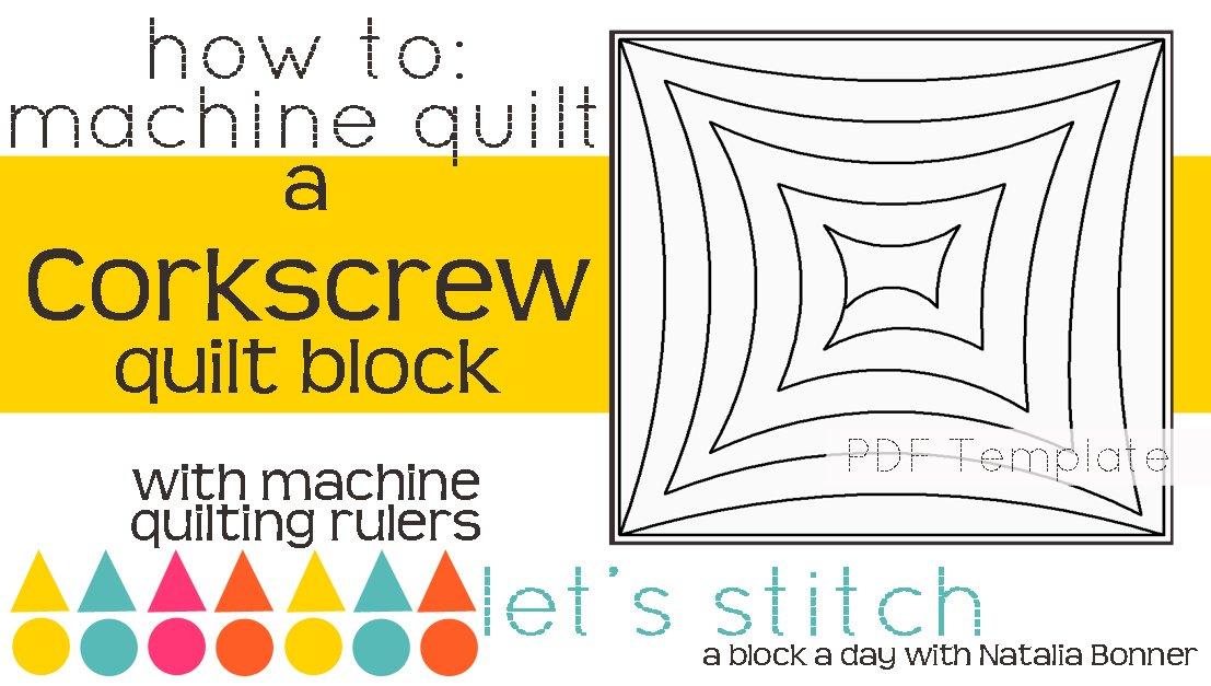 Let's Stitch - A Block a Day With Natalia Bonner - PDF - Corkscrew