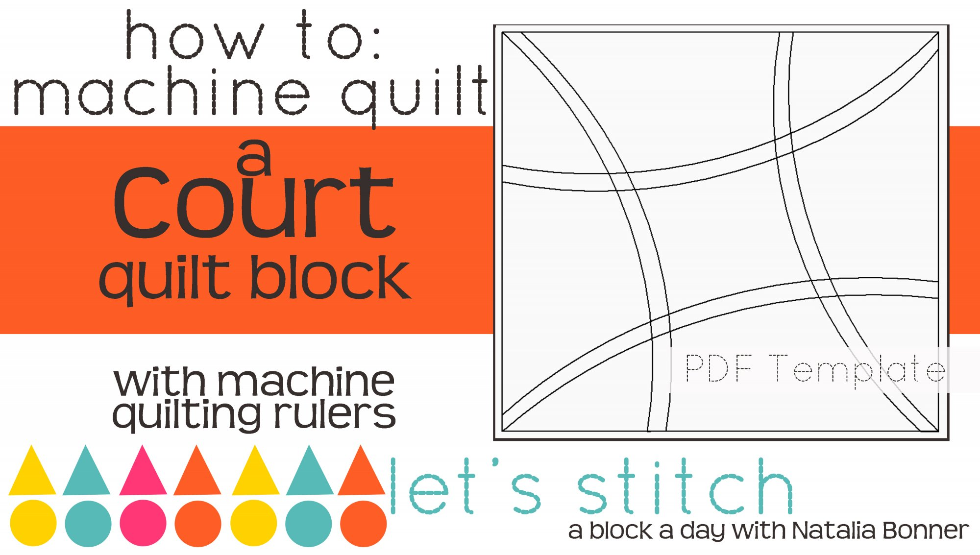 Let's Stitch - A Block a Day With Natalia Bonner - PDF - Court
