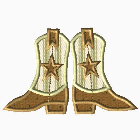 Cowboy Boots Applique