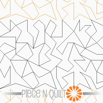 Crackle Machine Quilting Pattern - Digital