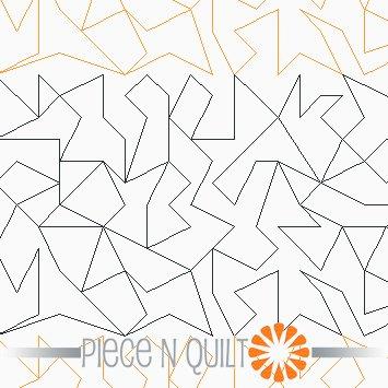 Crackle Machine Quilting Pattern - Digital