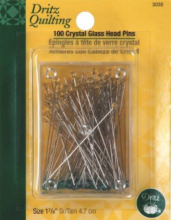 Crystal Glasshead Pins 1-7/8in 100ct