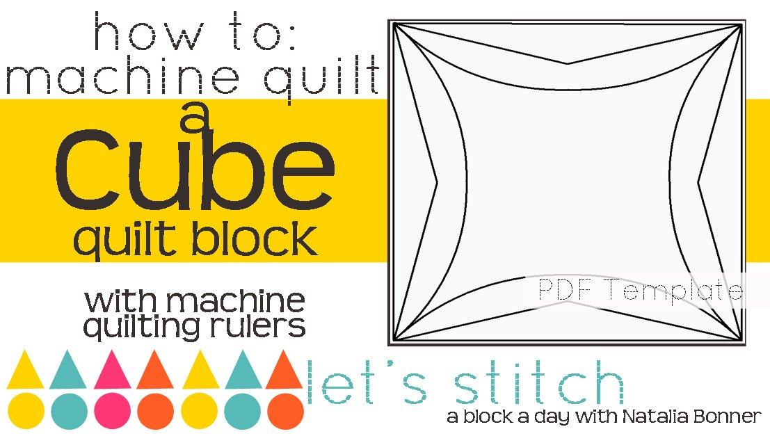 Let's Stitch - A Block a Day With Natalia Bonner - PDF - Cube