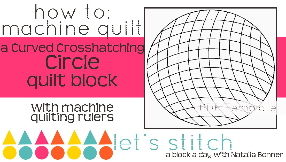 Let's Stitch - A Block a Day With Natalia Bonner - PDF - Curved Crosshatching on a Circle