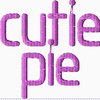 Cutie Pie Embroidery
