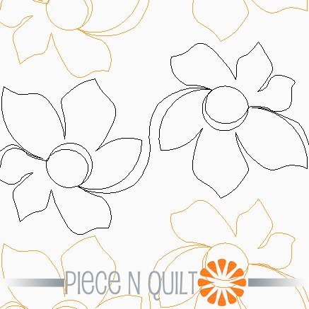 Daffodil Pantograph Pattern - Paper