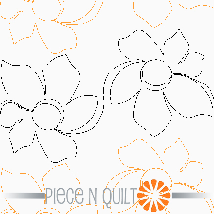 Daffodil Pantograph Pattern - Digital