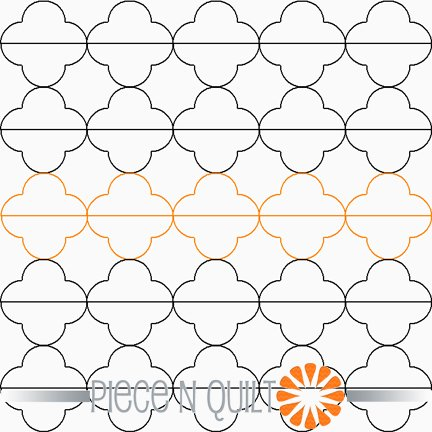 Dashed Quarterfoil Pantograph Pattern - Digital