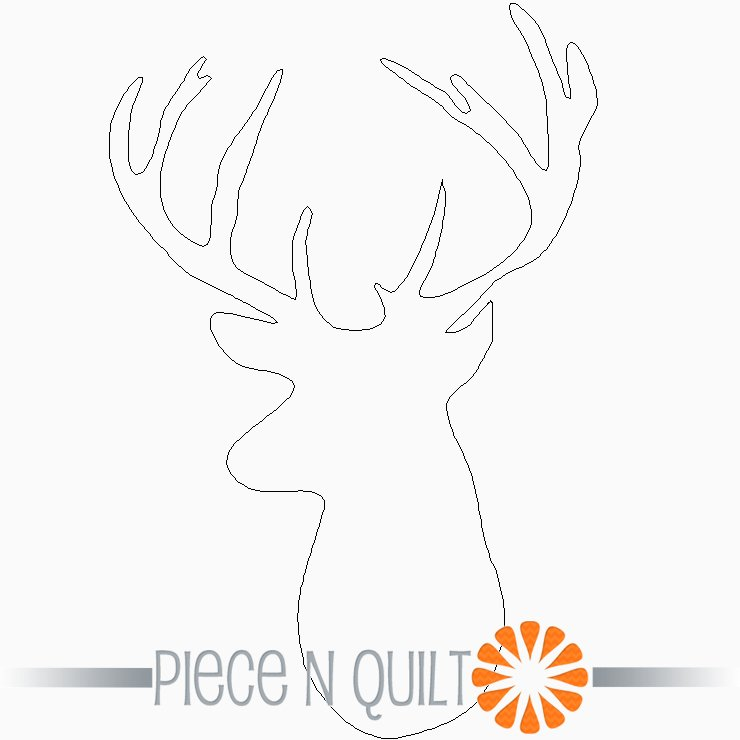 Deer Profile Single Block Pattern - Digital