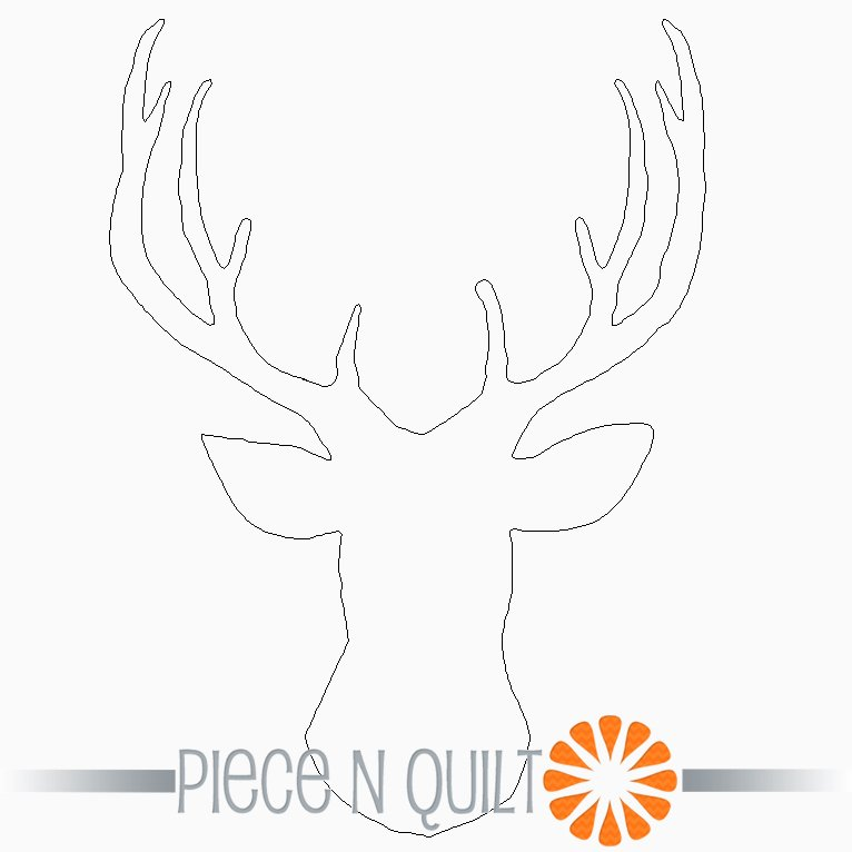 Deer Silhouette Single Block Pattern - Digital
