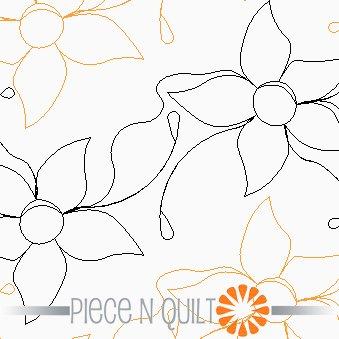 Dew Drops Pantograph Pattern - Paper
