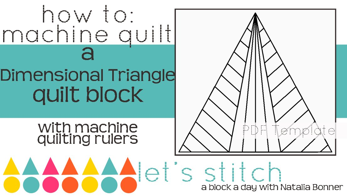Let's Stitch - A Block a Day With Natalia Bonner - PDF - Dimensional Triangle