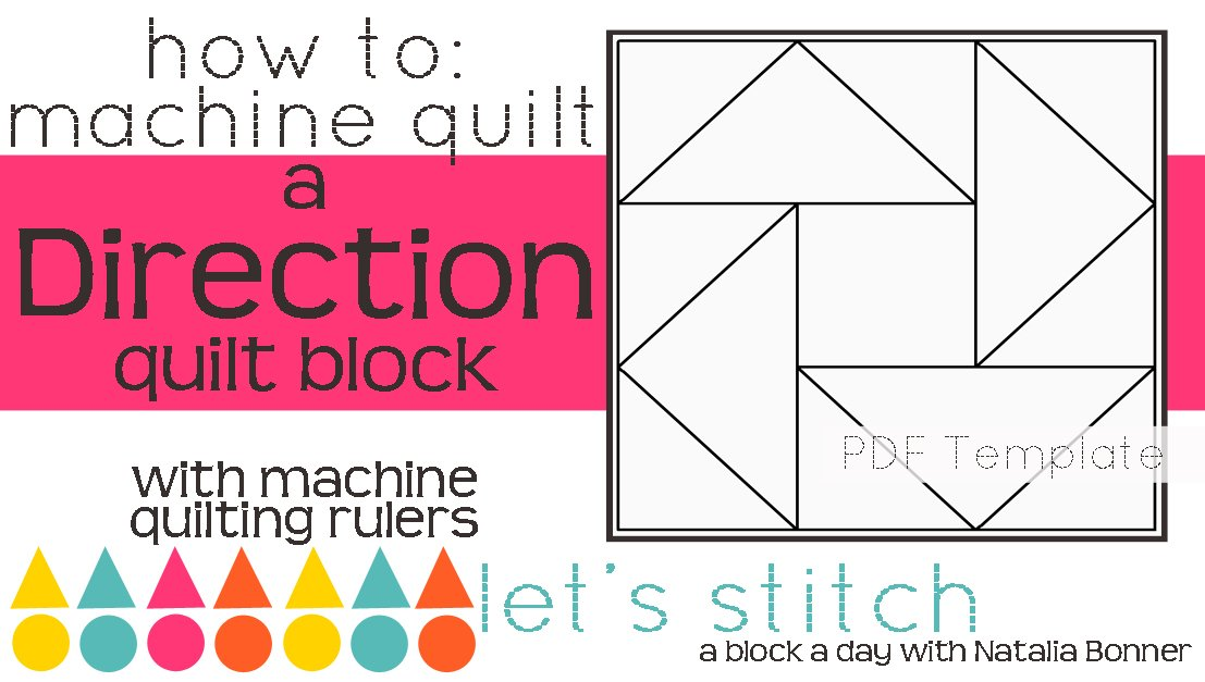 Let's Stitch - A Block a Day With Natalia Bonner - PDF - Direction