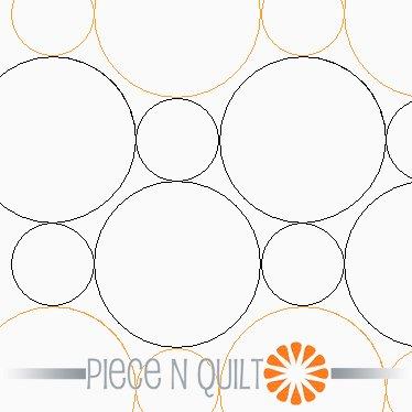 Double Bubble Wrap Pantograph Pattern - Paper