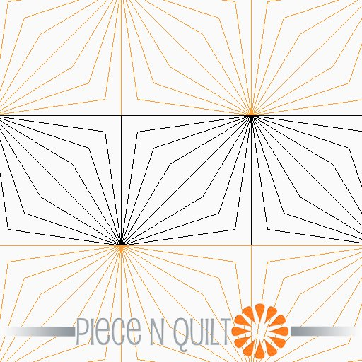 Double Diamond Pantograph Pattern - Digital