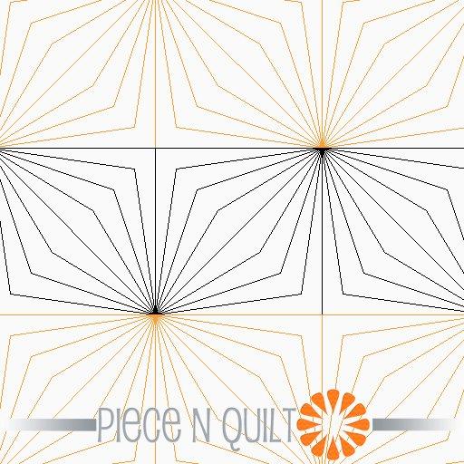 Double Diamond Pantograph Pattern - Paper