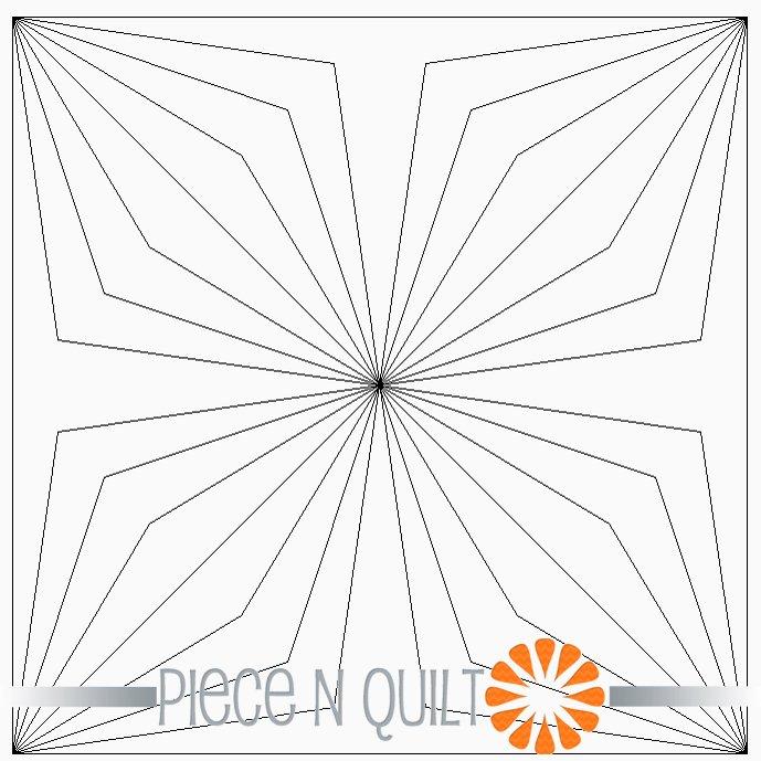 Double Diamond Quad Block Pattern - Digital