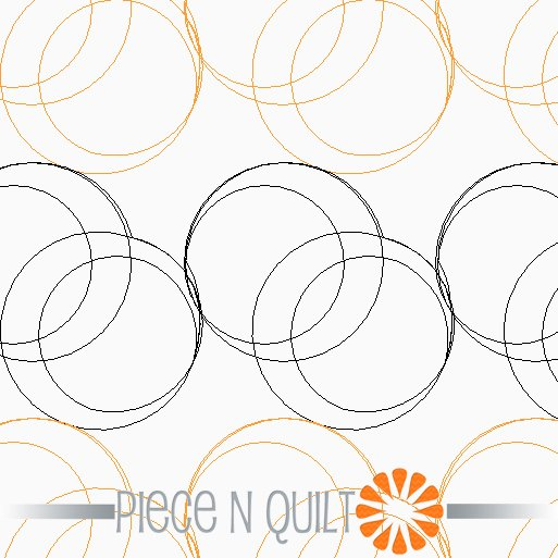 Double Hoops Pantograph Pattern - Digital