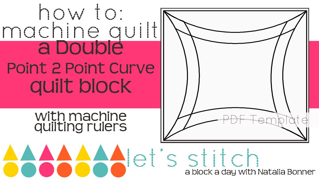 Let's Stitch - A Block a Day With Natalia Bonner - PDF - Double Point 2 Point Curve