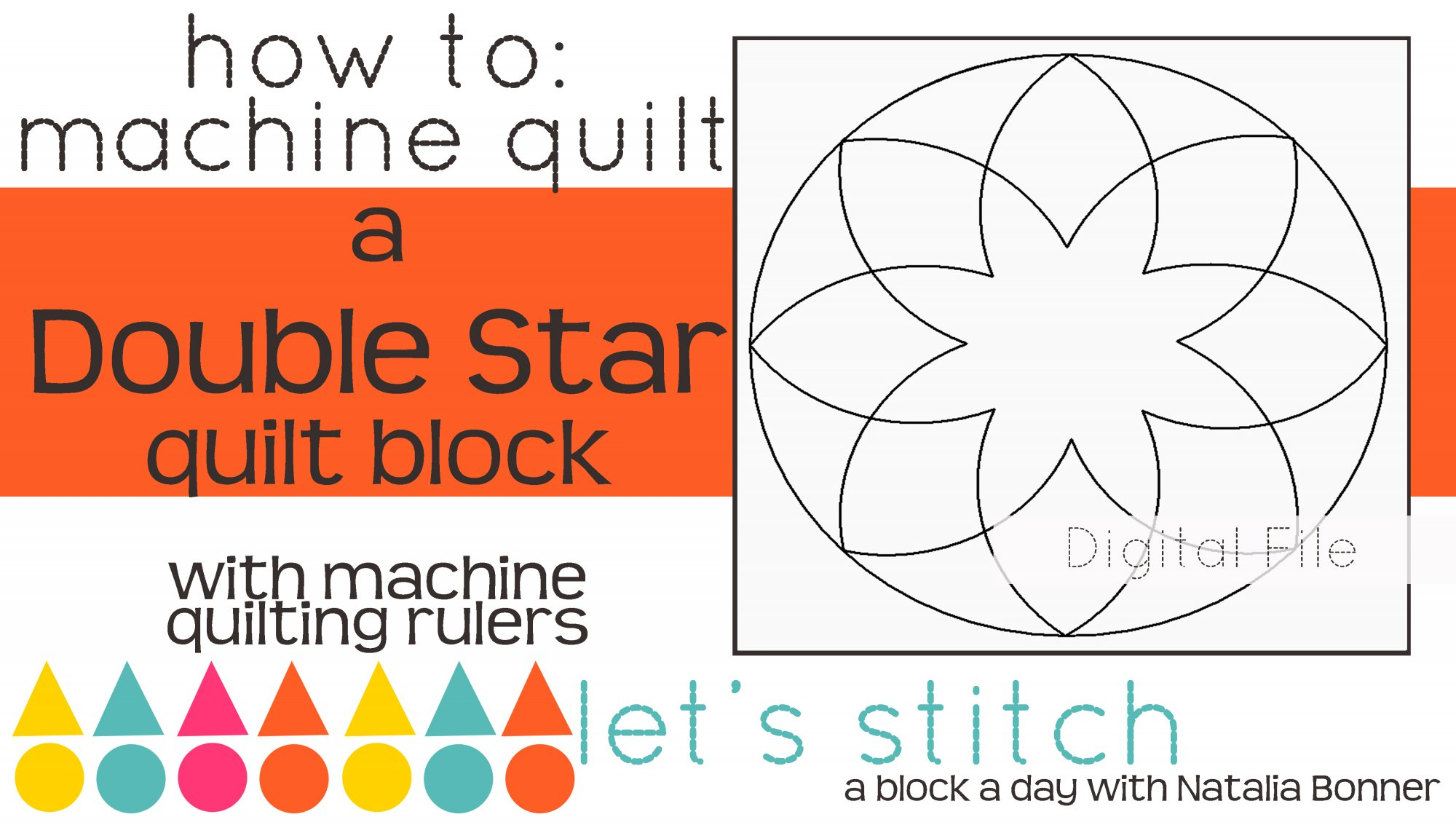 Double Star 6 Block - Digital