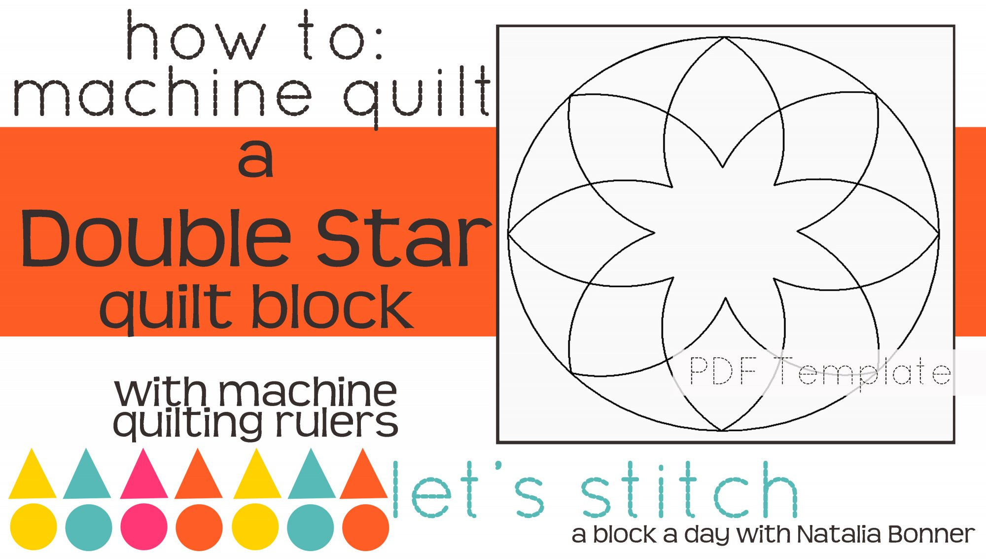 Let's Stitch - A Block a Day With Natalia Bonner - PDF - Double Star
