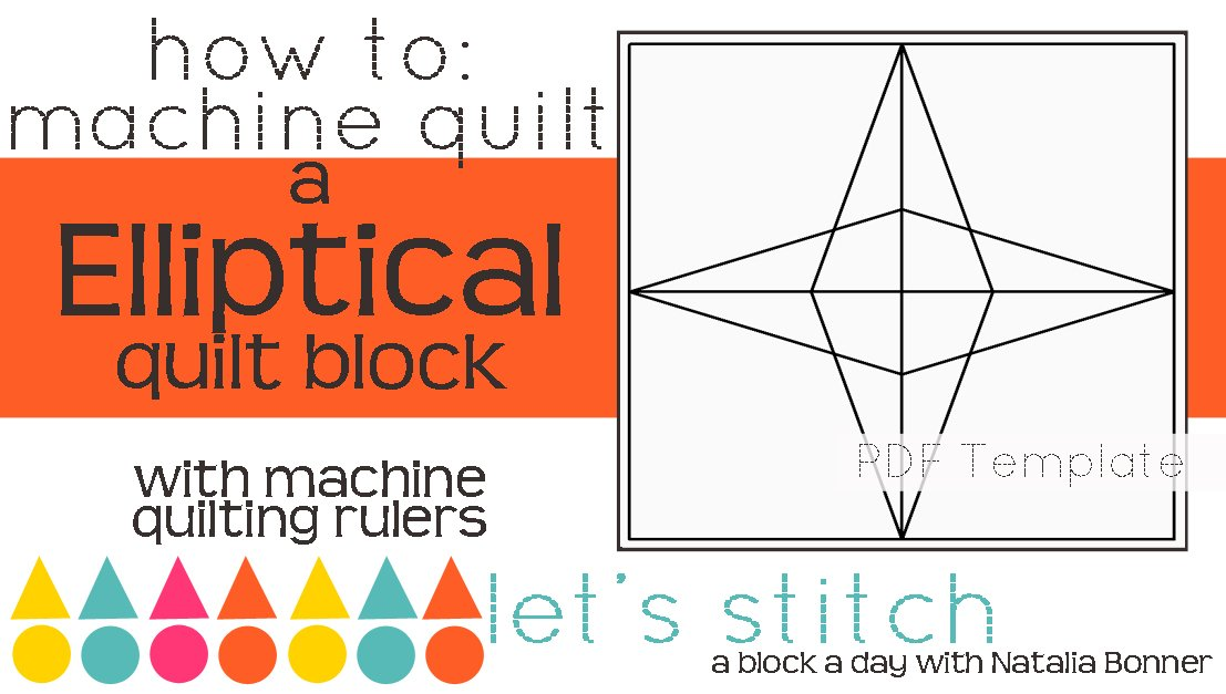 Let's Stitch - A Block a Day With Natalia Bonner - PDF - Elliptical