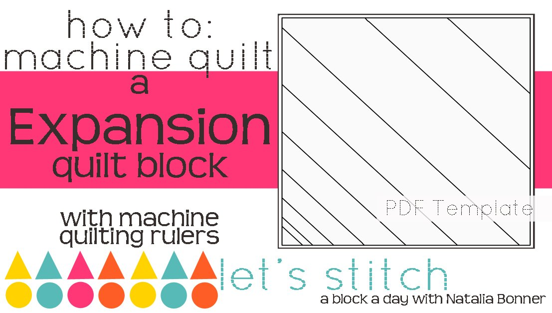 Let's Stitch - A Block a Day With Natalia Bonner - PDF - Expansion