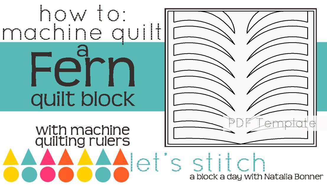 Let's Stitch - A Block a Day With Natalia Bonner - PDF - Fern
