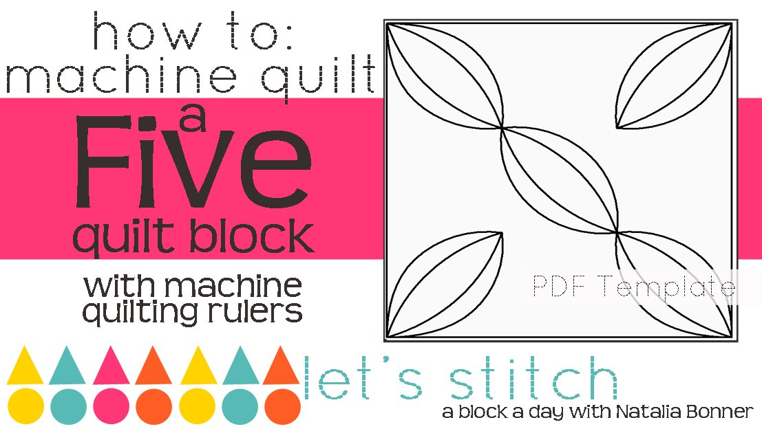Let's Stitch - A Block a Day With Natalia Bonner - PDF - Five
