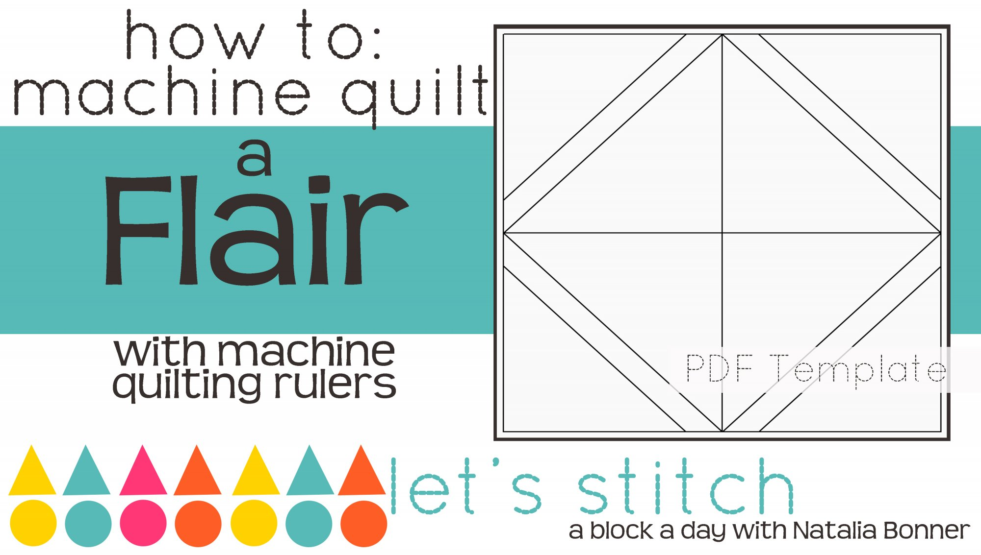 Let's Stitch - A Block a Day With Natalia Bonner - PDF - Flair