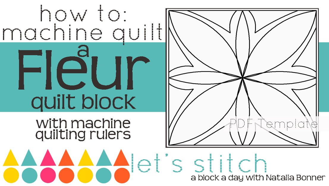 Let's Stitch - A Block a Day With Natalia Bonner - PDF - Fleur